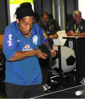 ronaldinho eating